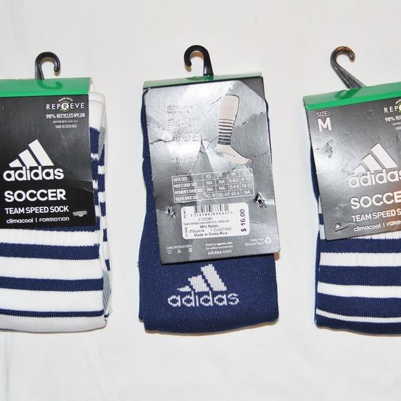 7390759a2a1b NWT Adidas Team Speed Soccer Socks 3 Pair Medium